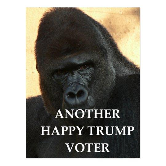 trump joke postcard