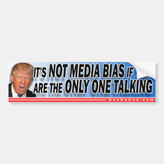 Trump Media Bias Bumper Sticker