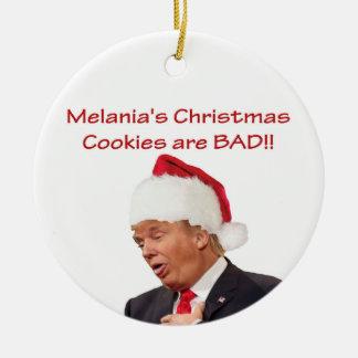 Trump, Melania's Christmas cookies are BAD! Christmas Ornament