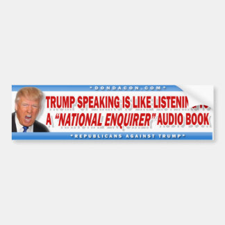 Trump National Enquirer Bumper Sticker