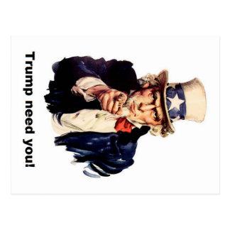 trump need you postcard