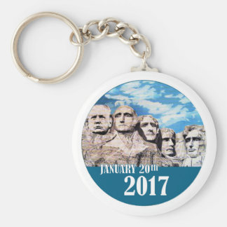 Trump on Mount Rushmore Key Ring