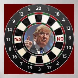 "Trump ""Paper Ball Target"" play Poster"