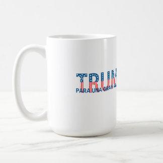Trump, para una gran América Basic White Mug
