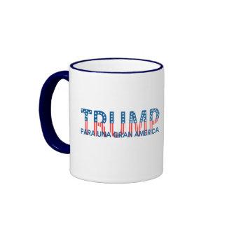 Trump, para una gran América Ringer Mug