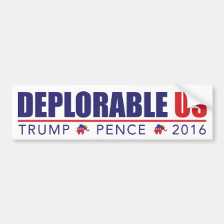 Trump Pence 2016 Bumper Sticker by Deplorable US
