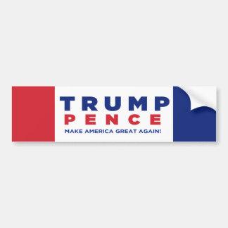 Trump Pence 2016 Election Bumper sticker