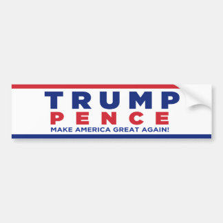 Trump Pence 2016 Election Campaign Bumper Sticker