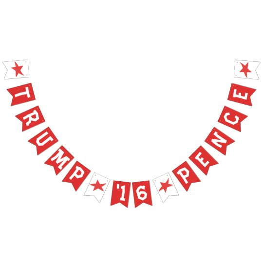 Trump Pence 2016 Election Gear Bunting