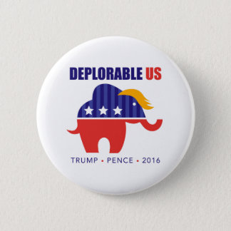 Trump Pence 2016 Elephant Toupee Campaign Button