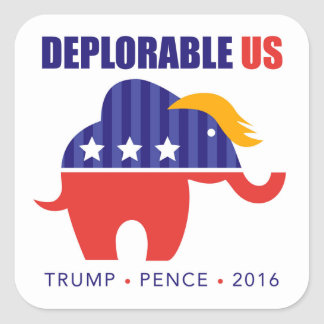 Trump Pence 2016 Elephant Toupee Sticker