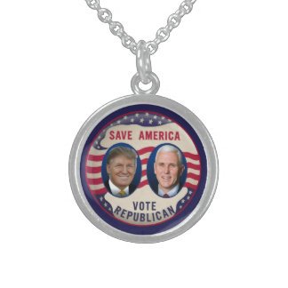 TRUMP PENCE 2016 STERLING SILVER NECKLACE