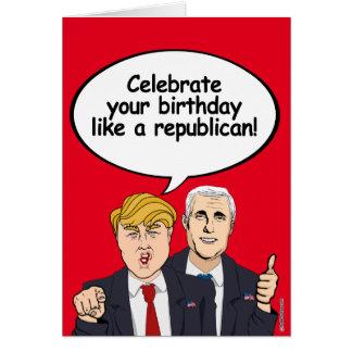 Trump Pence Birthday Card - Celebrate your birthda