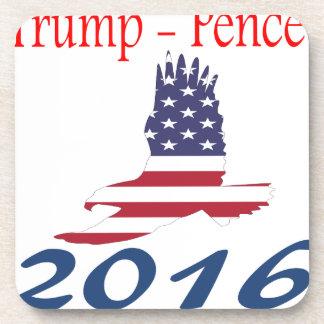 Trump/Pence eagle flag Drink Coaster