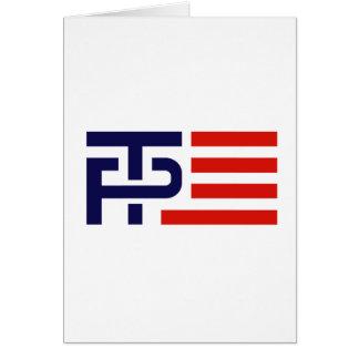 Trump Pence Flag Banner - Greeting Card