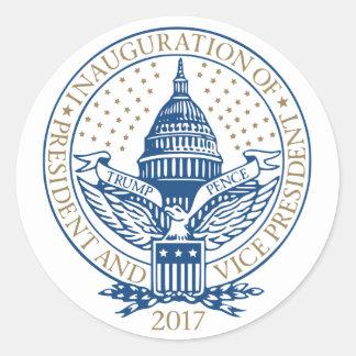 Trump Pence President Inaugural Logo Inauguration Classic Round Sticker