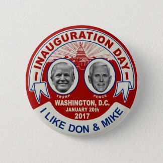 Trump Pence Retro Style Inauguration Day Souvenir 6 Cm Round Badge