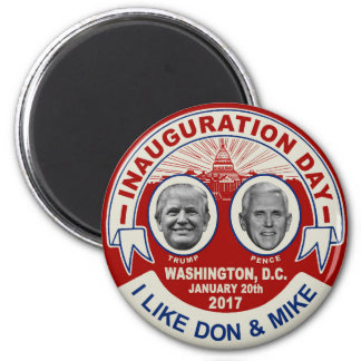 Trump Pence Retro Style Inauguration Day Souvenir Magnet
