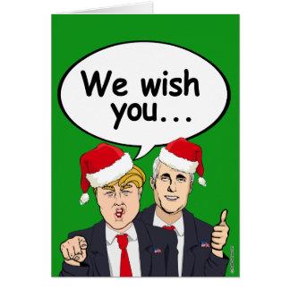 Trump Pence wish you Ameri-Christmas Greeting Card