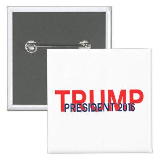 Trump, President 2016 15 Cm Square Badge