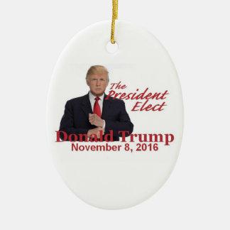 TRUMP President-Elect 2016 Christmas Ornament