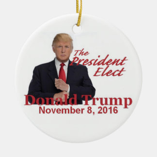 TRUMP President-Elect 2016 Christmas Ornament