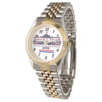 Trump President Red Blue Vintage Bracelet Watch