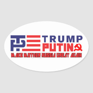Trump / Putin 2016 Alternate Oval Sticker