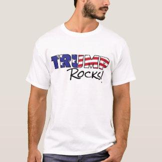 Trump Rocks USA Flag Text T-Shirt