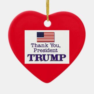 Trump Thank You Christmas Ornament