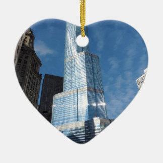 Trump Tower Ceramic Heart Decoration