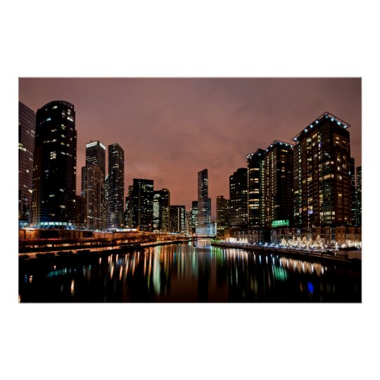 Trump Tower on the Chicago River Poster