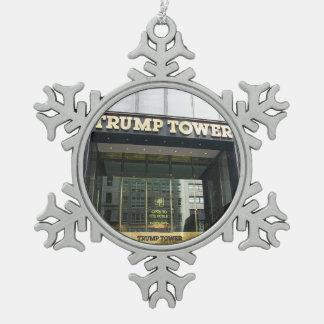 Trump Tower Pewter Snowflake Decoration