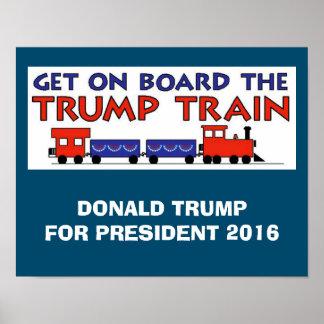 TRUMP TRAIN 2016 POSTER