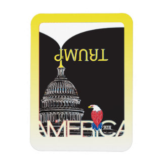 TRUMP Trumpet & US Capitol - night version Magnet