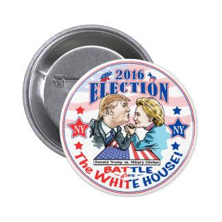 Trump versus Hillary 2016 6 Cm Round Badge