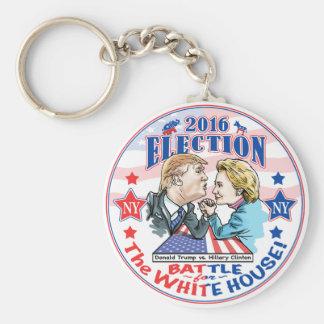Trump versus Hillary 2016 Basic Round Button Key Ring