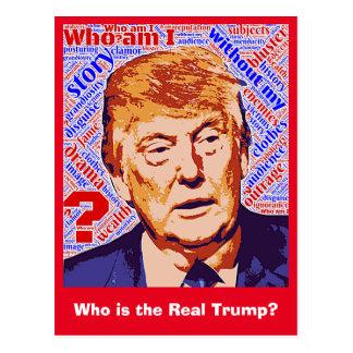 Trump Who Am I Really Postcard