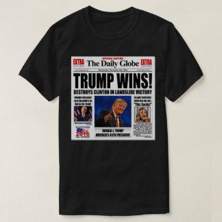 Trump Wins! Funny Anti Clinton Newspaper Satire Shirts