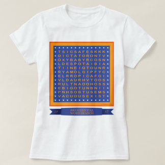 Trump Word Search T shirt (can YOU find 33?)