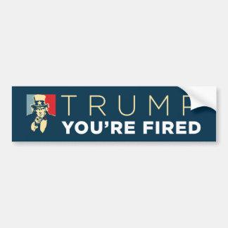 """""""Trump, You're Fired"""" Uncle Sam Bumper Sticker"""