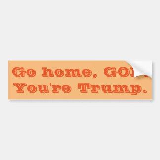 Trumper sticker bumper sticker