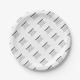 Trumpery Paper Plate