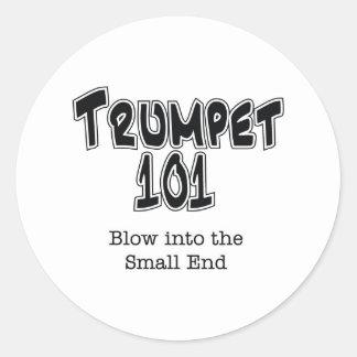 Trumpet 101 classic round sticker