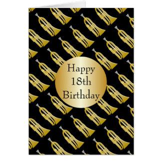 Trumpet 18th Birthday Card