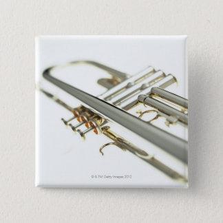 Trumpet 2 15 cm square badge