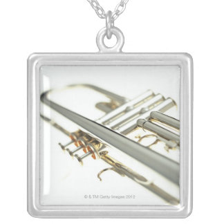 Trumpet 2 silver plated necklace