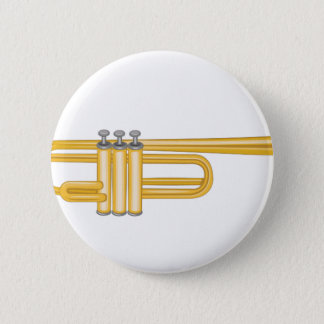 Trumpet 6 Cm Round Badge