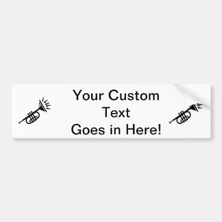 trumpet abstract with spikes black.png bumper sticker