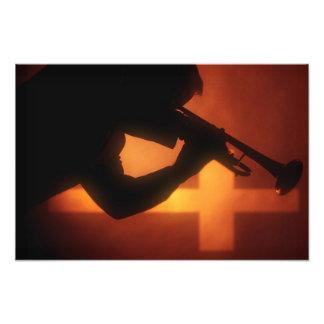 Trumpet and Cross Photo Print